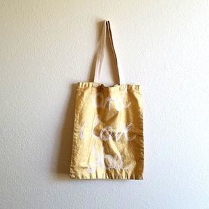 'and I love you' canvas tote